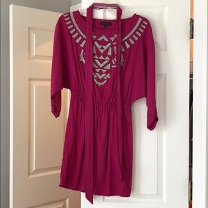 Magenta tribal dress